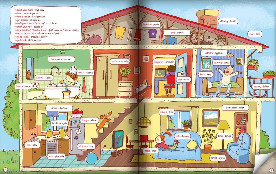 Pięknie ilustrowana książka do nauki angielskich słówek dla dzieci!