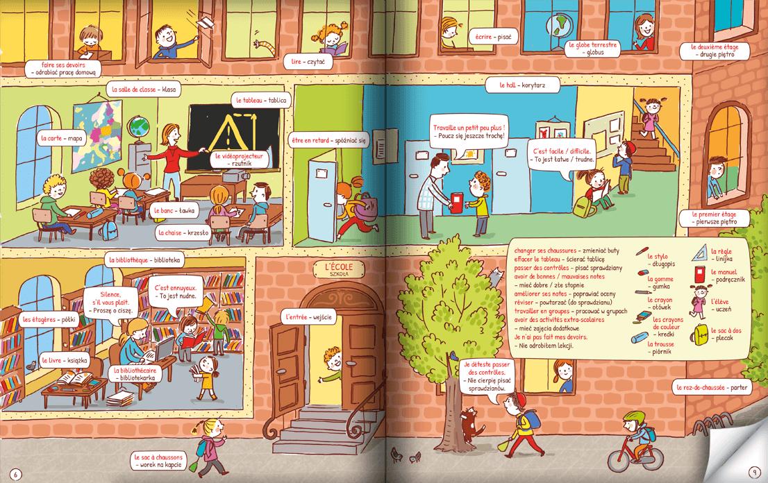 Pięknie ilustrowana książka do nauki francuskich słówek dla dzieci!