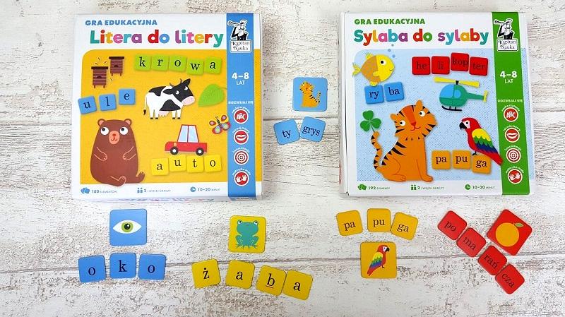Gry do nauki czytania dla dzieci - Litera do litery, Sylaba do sylaby