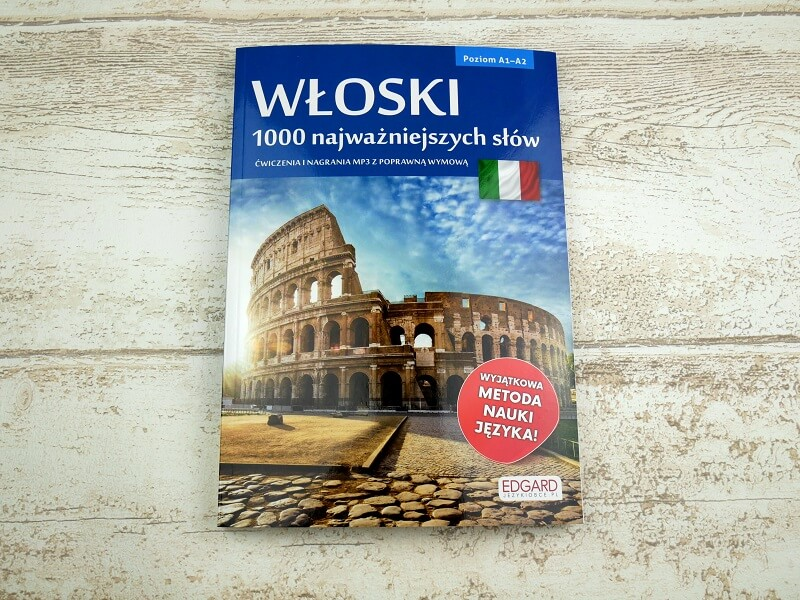 """Włoski """"1000 najważniejszych słów"""" - poziom A1-A2"""