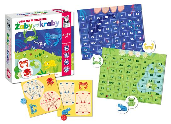 Żaby czy kraby  - gry  matematyczne mnożenie