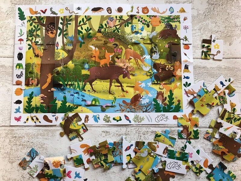 Puzzle obserwacyjne dla dzieci - Kapitan Nauka