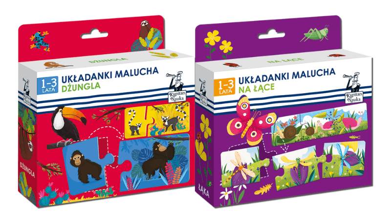 Układanki malucha - puzzle dwuelementowe dla dzieci