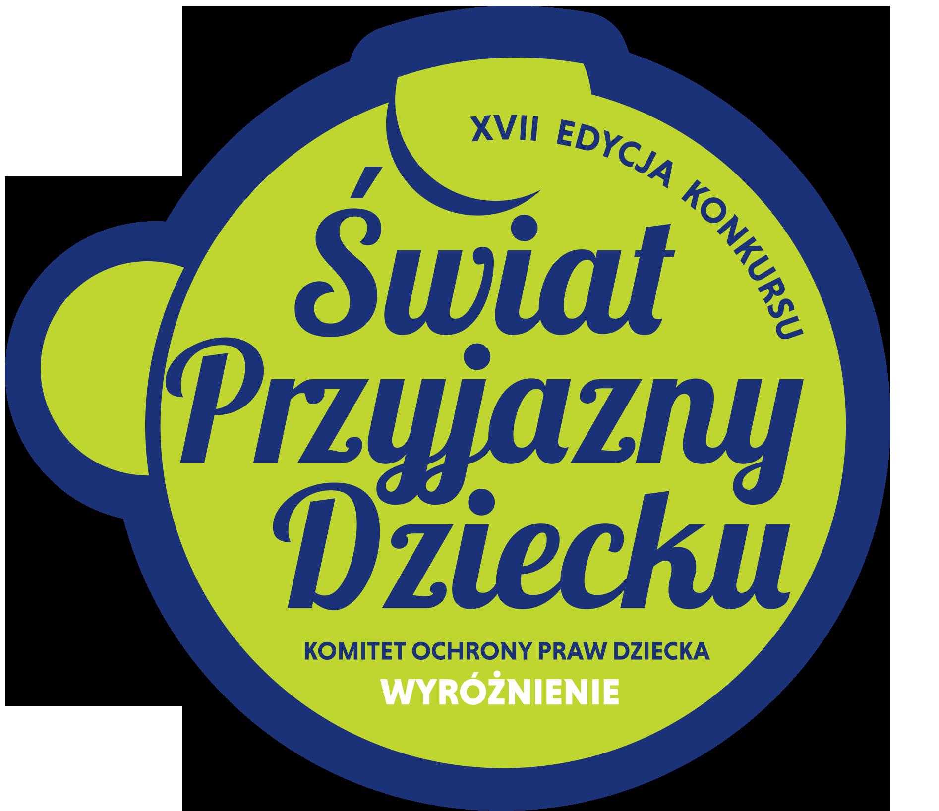 Wyróżnienie w XVII edycji konkursu Świat Przyjazny Dziecku