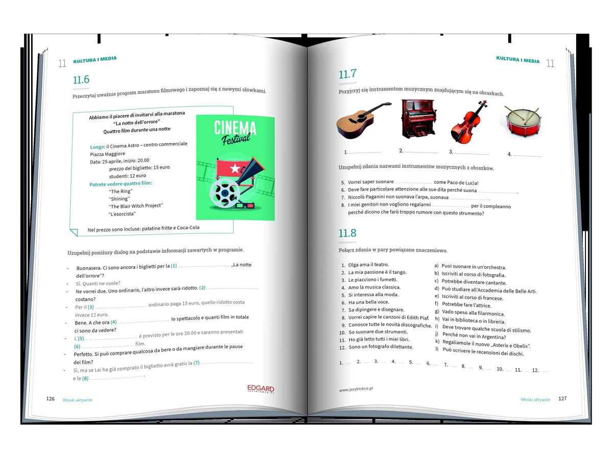 Włoski AKTYWNIE! Trening na 200 sposobów to doskonała pomoc w nauce języka włoskiego dla osób znających podstawy i średnio zaawansowanych. Pozwala poszerzyć i utrwalić słownictwo, przyswoić struktury leksykalno-gramatyczne i poznać język w praktyce!