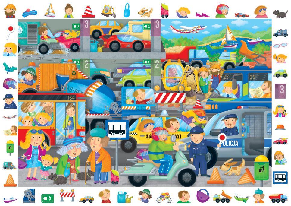 puzzle obserwacyjne pojazdy - dla dzieci od 6 lat