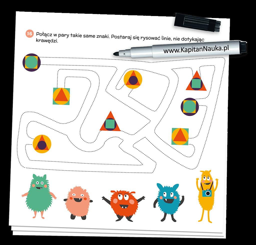 Kapitan Nauka. Bazgraki w podróży (3-6 lat) - książka + suchościeralny mazak