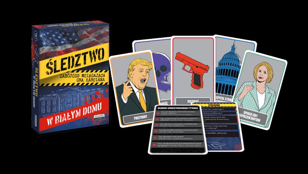 Śledztwo w Białym Domu. Detektywistyczna gra karciana