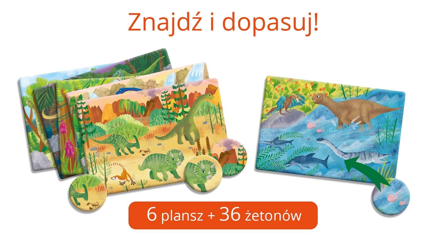 Gra z dinozaurami dla dzieci 4+