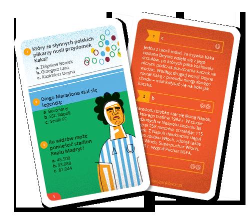 Kieszonkowiec futbolowy Hattrick to quiz karciany dla fanów piłki nożnej. 162 pytania quizowe sprawdzą wiedzę o utytułowanych klubach i znanych piłkarzach. Dzięki poręcznemu formatowi quiz zmieści się w kieszeni i sprawdzi w każdych okolicznościach.