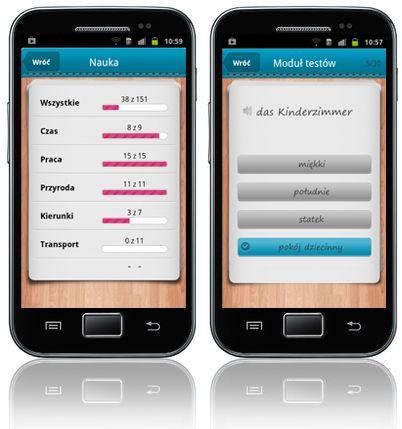 iFiszki+ Niemiecki - aplikacja mobilna - kurs języka niemieckiego