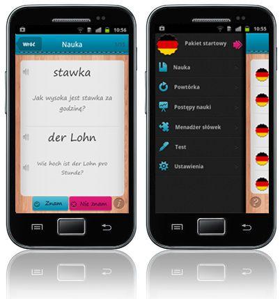 iFiszki+ Niemiecki - aplikacja mobilna - nauka niemieckiego