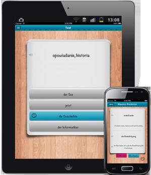 iFiszki+ Niemiecki - aplikacja mobilna - kurs niemieckiego słówka