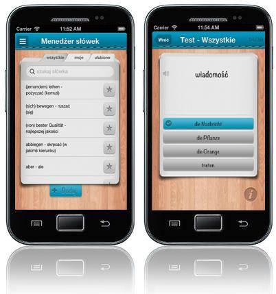 iFiszki Niemiecki 1000 najważniejszych słów - aplikacja mobilna - nauka niemiecki