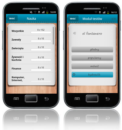 iFiszki+ Hiszpański - aplikacja mobilna - nauka hiszpański