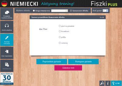 Niemiecki Fiszki PLUS 1000 najważniejszych słów dla początkujących - ćwiczenia