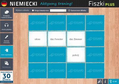 Niemiecki Fiszki PLUS 1000 najważniejszych słów dla początkujących - ćwiczenie 1