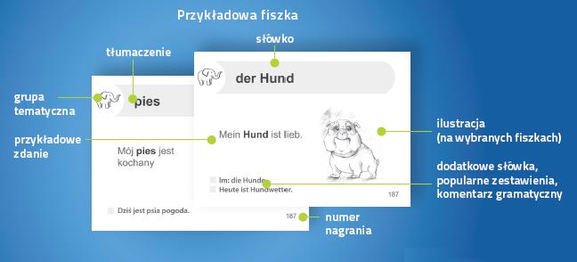 Niemiecki Fiszki PLUS 1000 najważniejszych słów dla początkujących - kurs niemieckiego