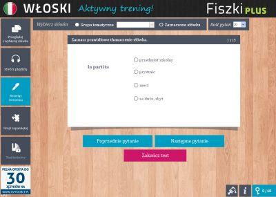 Włoski Fiszki PLUS 1000 najważniejszych słów dla początkujących - ćwiczenie 3