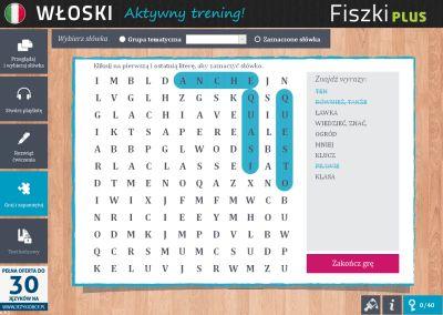 Włoski Fiszki PLUS 1000 najważniejszych słów dla początkujących - ćwiczenie 4