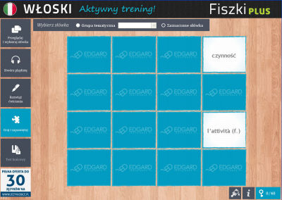 Włoski Fiszki PLUS dla początkujących 2 - ćwiczenie 3
