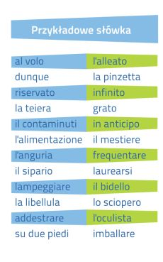 Włoski Fiszki PLUS dla średnio zaawansowanych 1 - kurs języka włoskiego