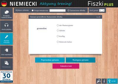 Niemiecki Fiszki PLUS dla średnio zaawansowanych 2  - ćwiczenie 2