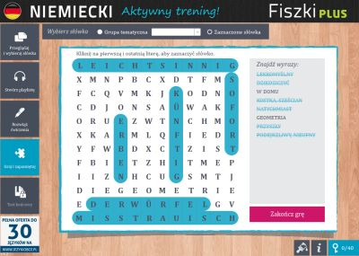 Niemiecki Fiszki PLUS dla średnio zaawansowanych 2  - ćwiczenie 3