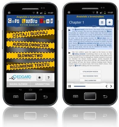 Angielski z kryminałem Cold Little Hand - aplikacja mobilna - kurs angielskiego
