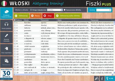Włoski Fiszki PLUS dla średnio zaawansowanych 2 - ćwiczenie 1
