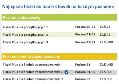Włoski Fiszki PLUS dla średnio zaawansowanych 2 - kurs języka włoskiego na każdym poziomie zaawansowania