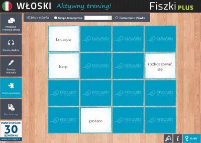 Włoski Fiszki PLUS dla średnio zaawansowanych 2 - ćwiczenie 3