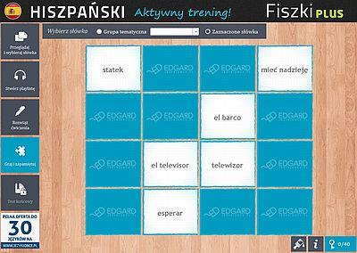 Hiszpański Fiszki PLUS dla początkujących 1 - ćwiczenie 2
