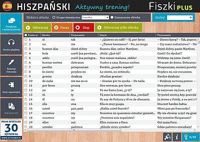 Hiszpański Fiszki PLUS dla początkujących 1 - ćwiczenie 3
