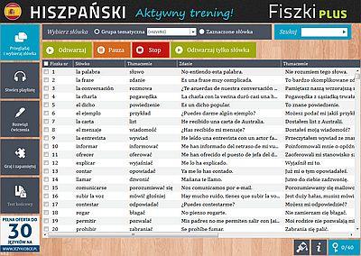 Hiszpański Fiszki PLUS dla początkujących 2 - ćwiczenie 1