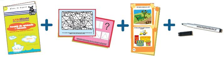 Kapitan Nauka. Łamigłówki dla przedszkolaka - ćwiczenia lekcje dla dzieci