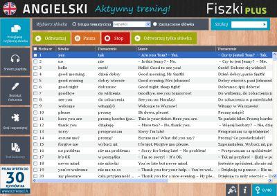 Angielski Fiszki PLUS Zwroty konwersacyjne dla początkujących - ćwiczenie 1