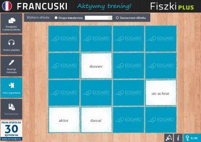 Francuski Fiszki PLUS dla początkujących 1 - ćwiczenie 1