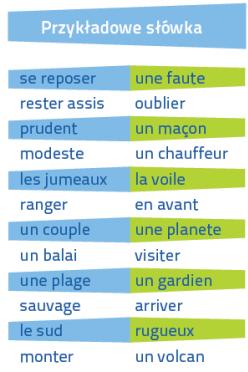 Francuski Fiszki PLUS dla początkujących 2 - kurs francuski słówka