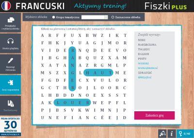 Francuski Fiszki PLUS dla początkujących 2 - ćwiczenie 3
