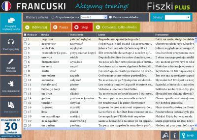 Francuski Fiszki PLUS dla początkujących 3 - lekcje