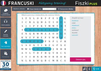 Francuski Fiszki PLUS dla początkujących 3 - ćwiczenie 1