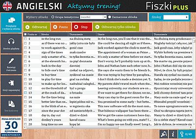 Angielski Fiszki PLUS Idiomy - ćwiczenie 1