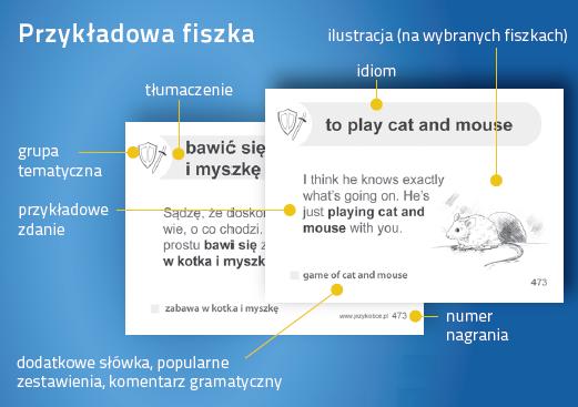 Angielski Fiszki PLUS Idiomy - nauka słówek angielski