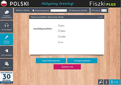 Fiszki PLUS Polish for foreigners - zadania