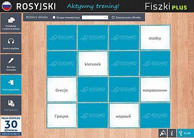 Rosyjski Fiszki PLUS 1000 najważniejszych słów dla początkujących - ćwiczenie 2