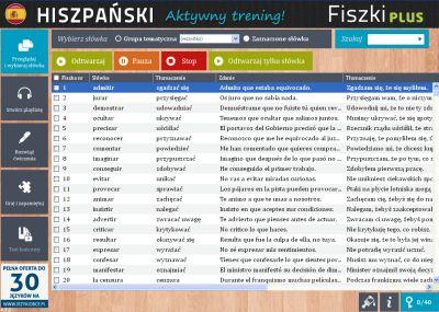 Hiszpański Fiszki PLUS dla średnio zaawansowanych 2 - zadania