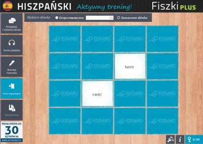 Hiszpański Fiszki PLUS dla średnio zaawansowanych 3 - ćwiczenie 1