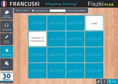 Francuski Fiszki PLUS dla średnio zaawansowanych 1  - ćwiczenie 1