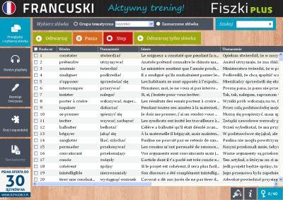 Francuski Fiszki PLUS dla średnio zaawansowanych 3 - ćwiczenia